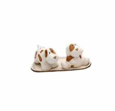 French Country Chic Collectable Novelty Salt and Pepper Set BROWN SPOT DOGS New