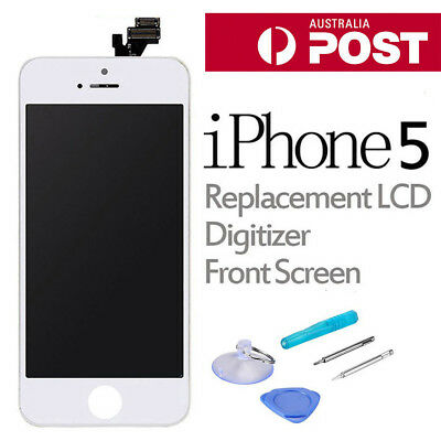 For iPhone 5 Display LCD Screen Replacement Digitizer Assembly Front Panel White