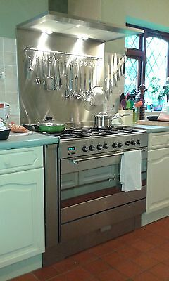 Kitchen Splashback / Cooker Brushed Stainless Steel -1.2mm Thick -Various Sizes