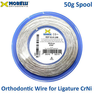 "Orthodontic Stainless Steel CrNi Ligature Wire Spool .20mm /.008"" Roll of 203m"