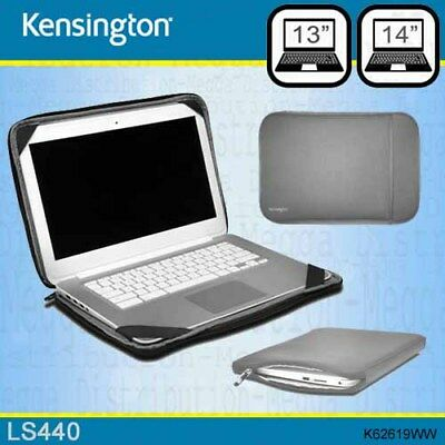 "Kensington LS440 13/14"" Laptop Carry Case Thin Protectiive Sleeve in GREY"