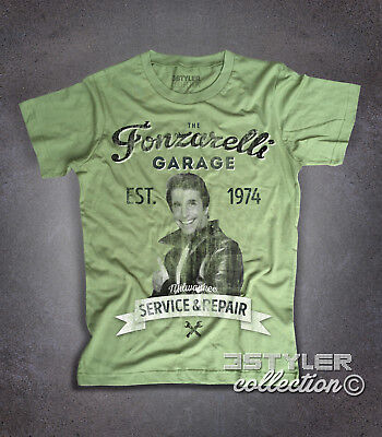 T-shirt uomo Fonzie Garage Fonzarelli ispirata a Happy Days