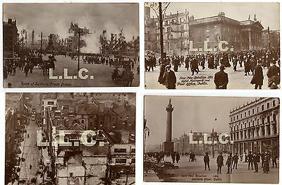 Four Original Postcards Dublin R.P.P.C. SINN FEIN REBELLION 1916.(My Ref Box C)