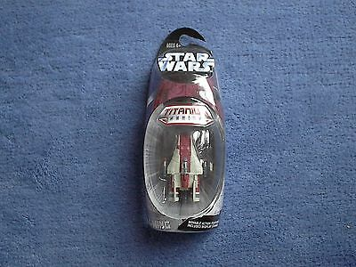 STAR WARS TITANIUM - Rebel red A-WING Rebel Fighter - LOSE