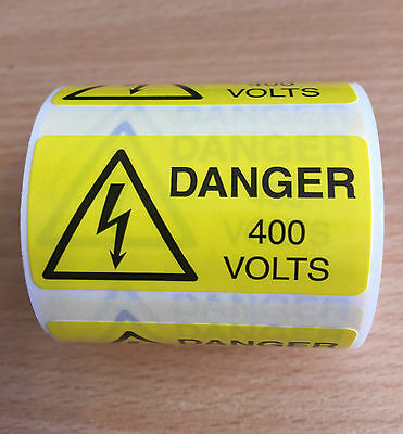 Danger 400V Labels (rolls of 250)