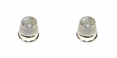 2 x Quality Thimbles Polished Steel Small Medium Or Large Sizes