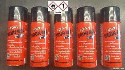 Brunox Epoxy Spray 5 x 400 ml Rostumwandler Rostsanierer Epoxy-Grundierung