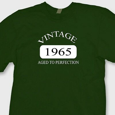 Vintage 1965 Funny Birthday T-shirt Aged To Perfection Antique Old Tee Shirt