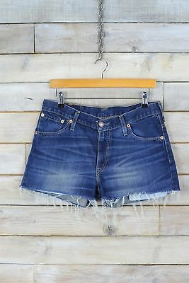 Vintage Levi's 516 Dark Blue Denim Shorts (W31) (14)