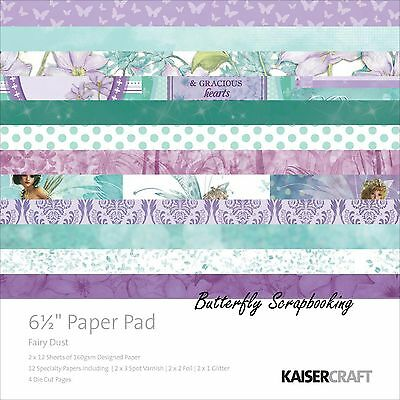 FAIRY DUST Collection 6.5 inch Paper Pad Scrapbooking Kit Kaisercraft PP983 NEW