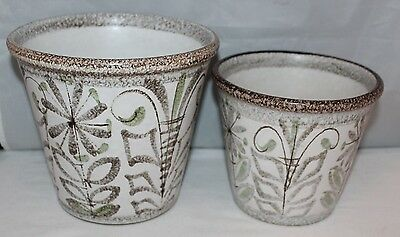 Denby - Glyn Colledge Studio Pottery - 2 x Graduated Planters - vgc