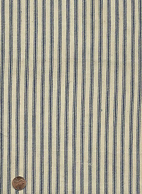 Antique Blue & White Stripe Ticking Fabric