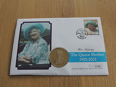 2002 Ghana Queen Mother 100 Sika Coin First Day Cover 1