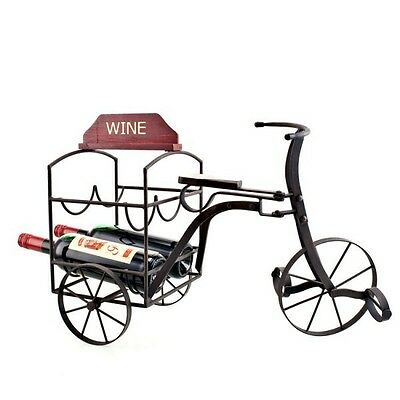 NEW Tricycle Wine Bottle Holder in Rustic
