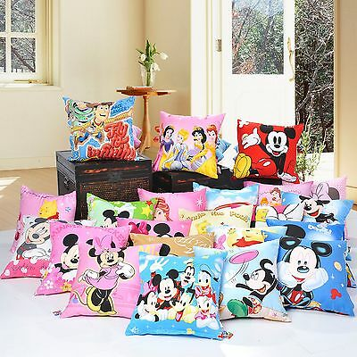 Disney Genuine Authorized Kids Cushion Cover Pillowcase High Quality 100% Cotton