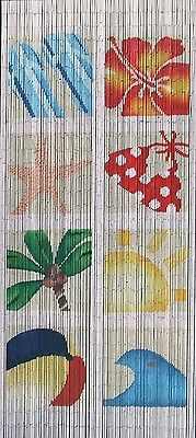 NEW At the Beach Bamboo Curtain