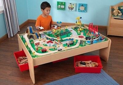 NEW Waterfall Mountain Train Table and 120-pieces Set