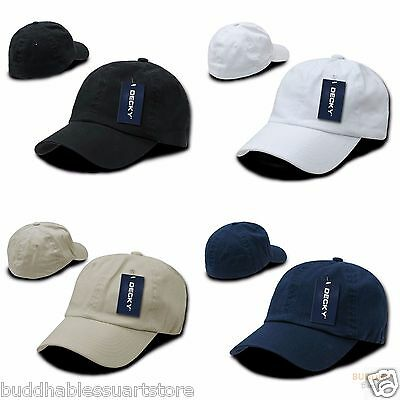 0c22d6867 1 Dozen DECKY Washed Cotton Polo Style Flex Fitted Baseball Hats Caps  Wholesale