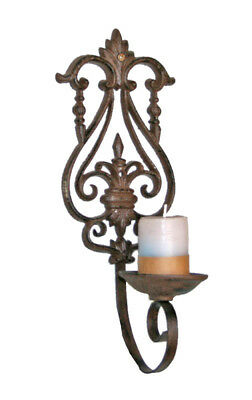 NEW Wall Candle Holder in Antique Rust