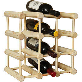 NEW 12 Bottle Stakrax Natural Wine Rack