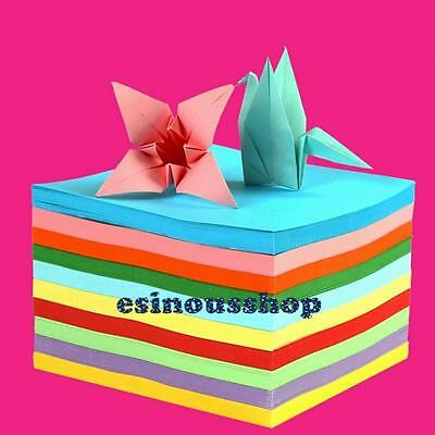 100/520Pcs Origami Square Folding Paper Colorful For Craft DIY HandMade