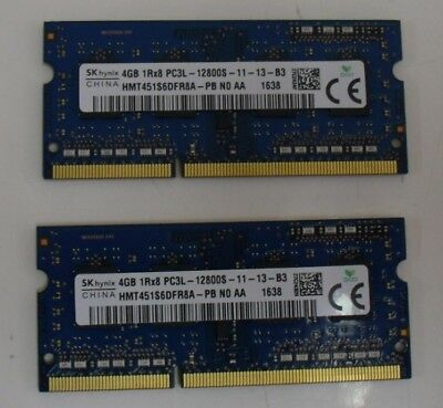 Samsung/Kingston/Hynix 8GB DDR3 1600Mhz SO DIMM (2x4GB) Notebook Laptop 1.35V