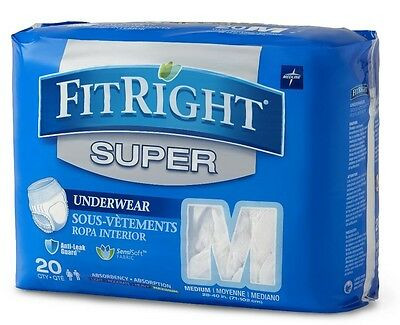 Medline FitRight Super Protective Underwear Anatomical Design