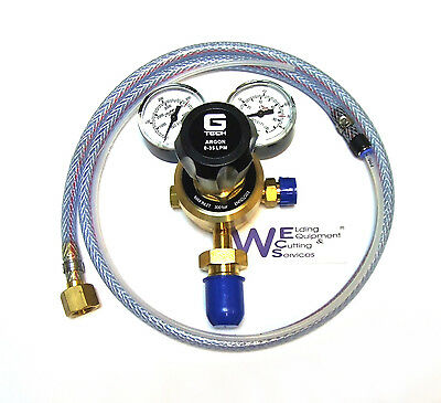 Argon / Co2 Mig Welder 2 Gauge Regulator and mini mig adaptor hose