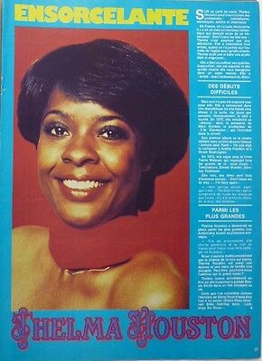 THELMA HOUSTON => 1  page 1979  FRENCH  CLIPPING // Coupure de presse