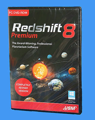 REDSHIFT 8 premium PC DVD-ROM  Astronomy Software - NEW & SEALED BOX