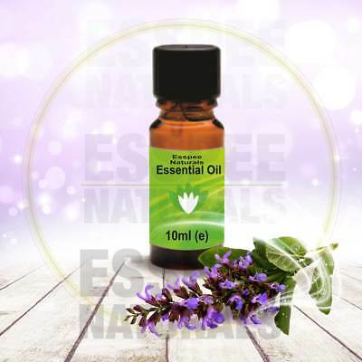 Clary Sage Essential Oil 10ml - 100% Pure - For Aromatherapy & Home Fragrance