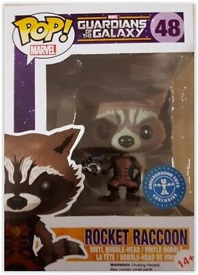 Funko POP Marvel guardiani della galassia ROCKET RACCOON vinyl bobble-head #48