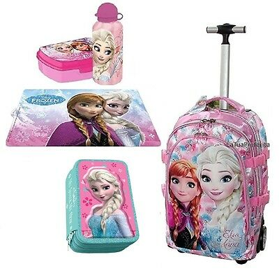 zaino Trolley Frozen Magic Disney Astuccio Triplo set lunch box panini scuola