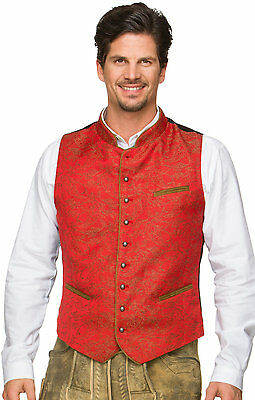 Gilet traditionnel Paolo rouge