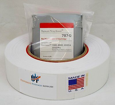 Red Ink Cartridge, 787 0, Plus 1 Postage tape roll of Connect + series
