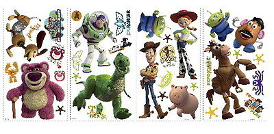Walt Disney's Toy Story 3, Peel and Stick Wall Stickers Appliques NEW SEALED