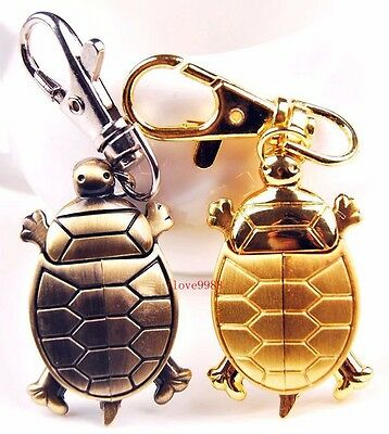 New 10pcs Cute Sea Turtle Style boy girl lady Key Ring pocket Watches USR82