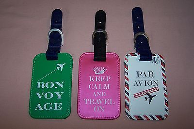 Renewal 3 Pack Luggage Tags NEW in Box Very Durable 3 Different Colors & Designs