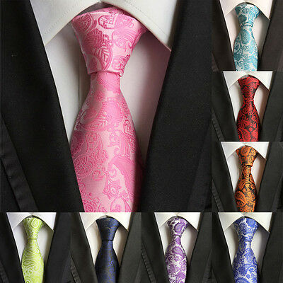 Hot Mens Ties Silk 100% Party Necktie JACQUARD WOVEN Tie Classic Fashion Wedding