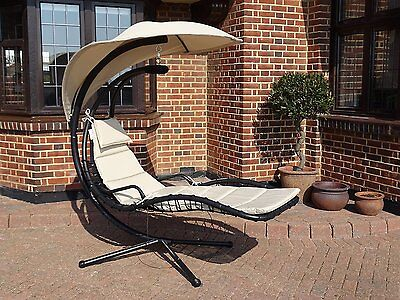 Deluxe Helicopter Swing Chair Hammock Stand Garden Outdoor Sunshade Lounger Seat