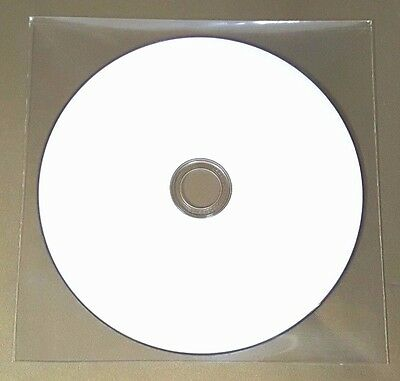 100 CD DVD BLURAY CPP Clear Plastic Sleeves with Flap Envelopes 100micron