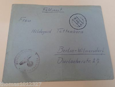 Rare Feldpost Letter 1943 Soldatenheim Russian Front. Soldier on the March
