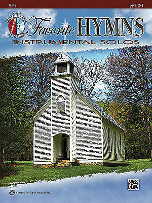 Favorite Hymns Instrumental Solos Flute Book + Cd New