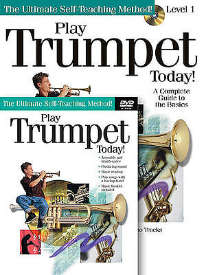 Play Trumpet Today Beginner Lesson Book + Cd + Dvd New