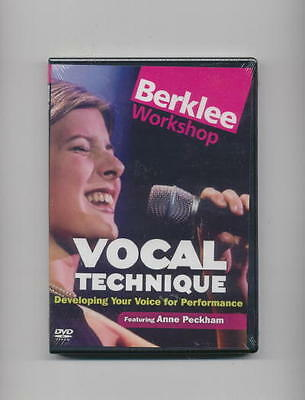 Learn To Sing - Vocal Technique - Berklee *new* Dvd