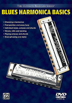 Blues Harmonica Basics  - Beginner Lessons *new* Dvd