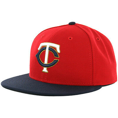 "New Era 59Fifty Minnesota Twins ""Alternate 2"" 2016 Fitted Hat (Red-Navy) MLB Cap"