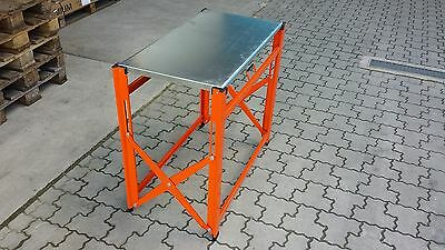 Bahco Foldable Mobile Pro Work bench with galvanised Worktop 1495FWB097TS