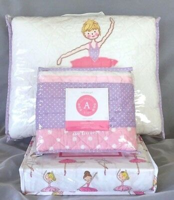 5PC Pretty Ballerina Girl Set Cotton Quilt Sham poly Sheets Twin Authentic Kids