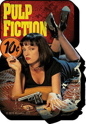 Pulp Fiction Movie Poster Image Funky Chunky 3-D Die-Cut Magnet, NEW UNUSED